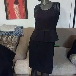 a black calvin klein dress